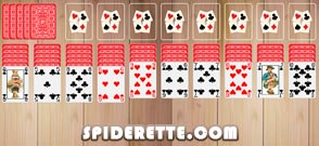Spider Solitaire Tableau
